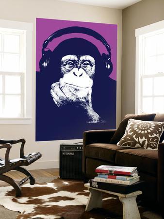 Headphone Chimp - Purple
