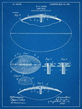 Football With Laces Patent