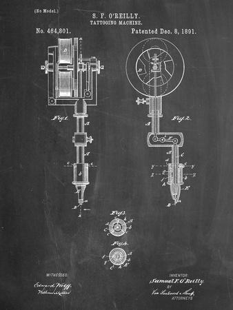Tattoing Machine Patent 1891