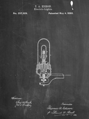 Thomas Edison Light Bulb Patent