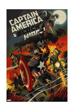 Captain America and Black Widow #640 Cover: Captain America, Black Widow, Ghost Rider, Black Knight