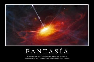 Fantasía. Cita Inspiradora Y Póster Motivacional