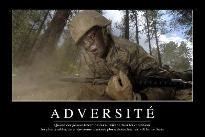 Adversité: Citation Et Affiche D'Inspiration Et Motivation