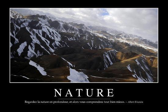 Nature Citation Et Affiche D Inspiration Et Motivation