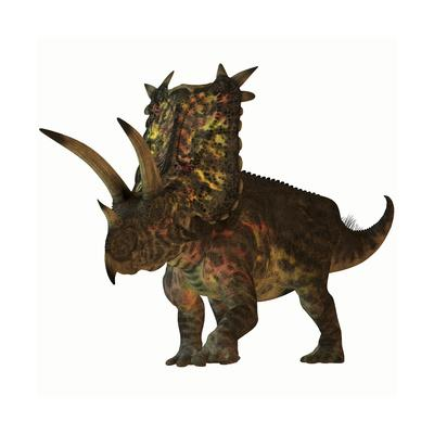 Pentaceratops, a Herbivorous Dinosaur from the Cretaceous Period