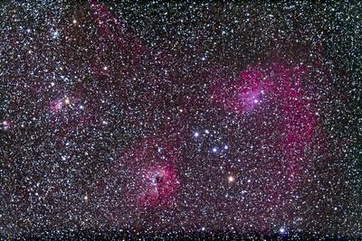 Area of Flaming Star Nebula and Complex in Auriga