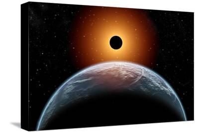 A Total Eclipse of the Sun as Seen from Being in Earth's Orbit