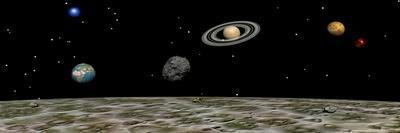 View of the Universe and Planets as Seen from a Distant Moon