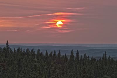 Sunset at Horseshoe Canyon, Cypress Hills Interprovincial Park, Alberta, Canada