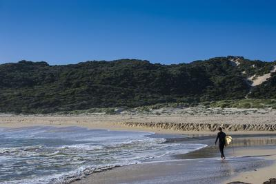 Lonely Surfer on a Beach Near Margaret River, Western Australia, Australia, Pacific