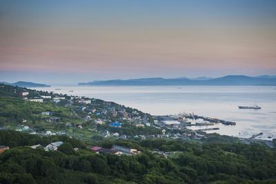 The Avacha Bay Near Petropavlovsk-Kamchatsky at Sunset, Kamchatka, Russia, Eurasia