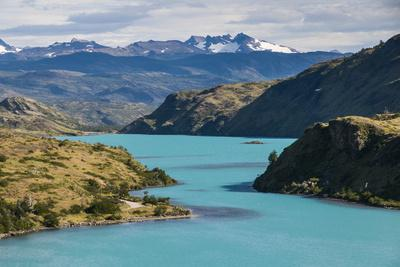 Lake Pehoe in the Torres Del Paine National Park, Patagonia, Chile, South America