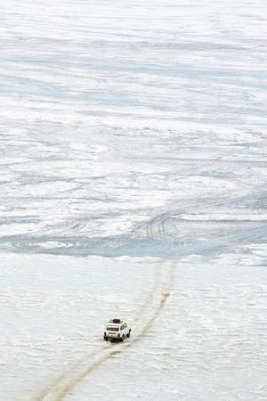 Driving on the Lake, Maloe More (Little Sea), Frozen Lake During Winter, Olkhon Island, Lake Baikal
