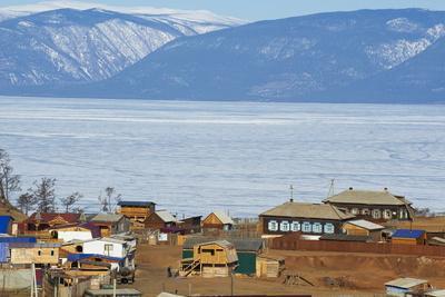 Khoujir, Maloe More (Little Sea), Frozen Lake During Winter, Olkhon Island, Lake Baikal