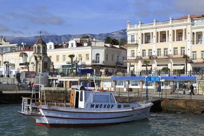 Boat in Yalta Port, Crimea, Ukraine, Europe
