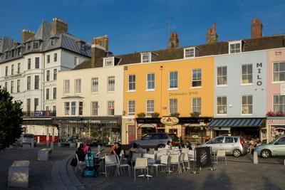 Outdoor Cafe and Typical Terrace in Centre of Margate, Kent, England, United Kingdom, Europe
