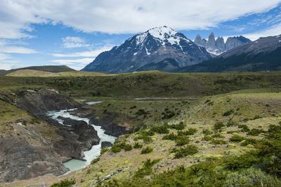 River before the Torres Del Paine National Park, Patagonia, Chile, South America
