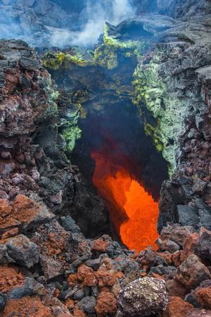 Active Magma in a Stream Below the Tolbachik Volcano, Kamchatka, Russia, Eurasia