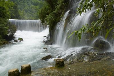 Waterfall in Xiaoqikong Rain Forest, Guizhou Province, China, Asia