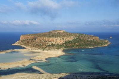 Balos Bay and Gramvousa Island, Gramvousa, Chania, Crete, Greek Islands, Greece, Europe
