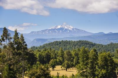Volcano Villarrica and the Beautiful Landscape, Southern Chile, South America