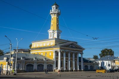 Fire Tower on Susaninskaya Square, Kostroma, Golden Ring, Russia, Europe