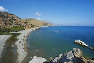 Preveli Beach, Rethymnon Province, Crete, Greek Islands, Greece, Europe