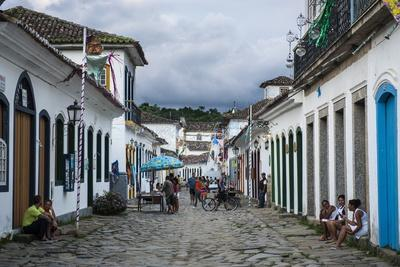 Colourful Colonial Houses in Paraty South of Rio De Janeiro, Brazil, South America