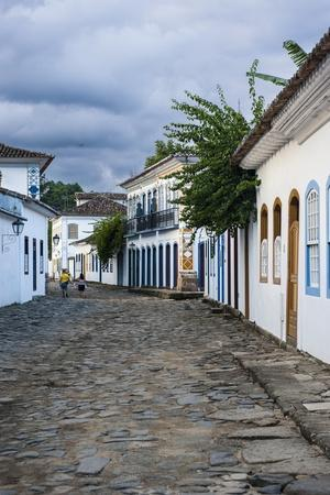 Colourful Colonial Houses in Paraty, South of Rio De Janeiro, Brazil, South America