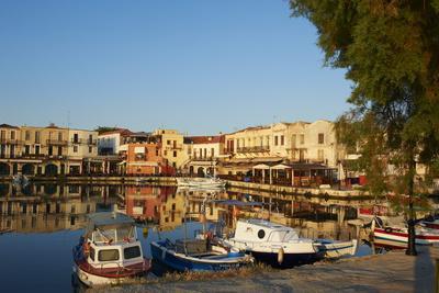 Venetian Port of Rethymnon, Crete, Greek Islands, Greece, Europe