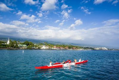 Locals Working Out in their Outrigger Canoes