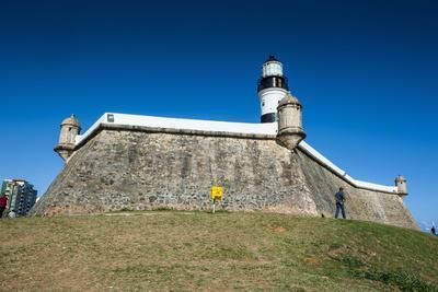 Farol Da Barra Lighthouse, Salvador Da Bahia, Bahia, Brazil, South America