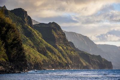 Sunset on the Napali Coast, Kauai, Hawaii, United States of America, Pacific