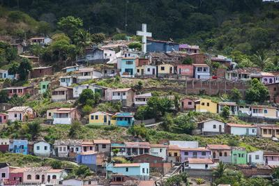 View over Colourful Houses in Cachoeira, Bahia, Brazil, South America