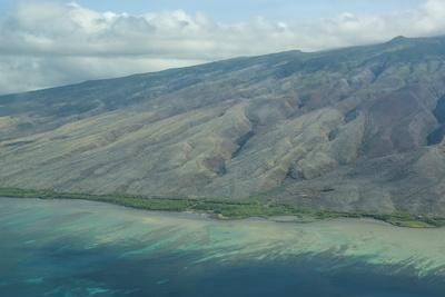 Aerial of the Island of Molokai, Hawaii, United States of America, Pacific