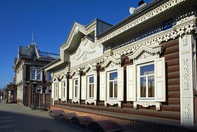 Wooden Architecture, the House of Europe, Irkutsk, Siberia, Russia, Eurasia