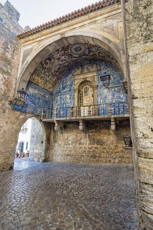 Porta Da Vila Decorated with Azulejos, Obidos, Estremadura , Portugal, Europe