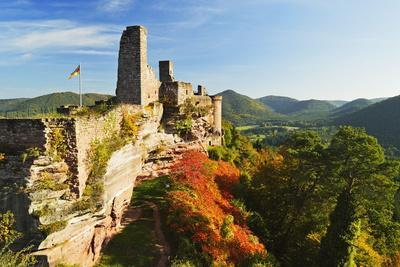 Altdahn Castle, Dahn, Palatinate Forest, Rhineland-Palatinate, Germany, Europe