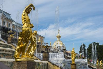 The Samson Fountain in Front of the Grand Peterhof Palace (Petrodvorets)