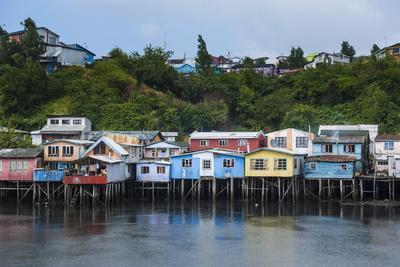 Colourful Houses in Castro, Chiloe, Chile, South America
