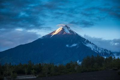 Tolbachik Volcano at Sunset, Kamchatka, Russia, Eurasia