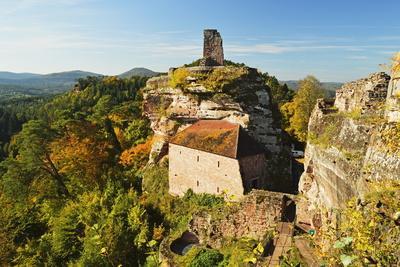Altdahn Castle, Dahn, Palatinate Forest, Rhineland-Palatinate, Germany, Europe