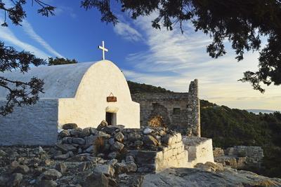 Chapel at Monolithos Castle, Rhodes, Dodecanese, Greek Islands, Greece, Europe