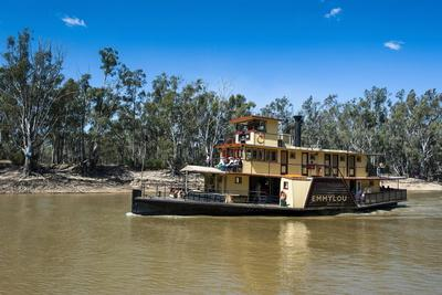 Old Steamer in Echuca on the Murray River, Victoria, Australia, Pacific