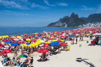 Famous Copacabana, Rio De Janeiro, Brazil, South America