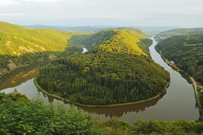 Saar River Loop at Mettlach, Rhineland-Palatinate, Germany, Europe