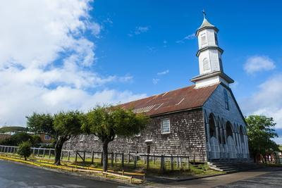Church of Our Lady of Sorrows, UNESCO World Heritage Site, Dalcahue, Chiloe, Chile, South America