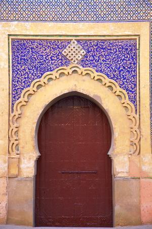 Gate to Royal Palace, Meknes, Morocco, North Africa, Africa