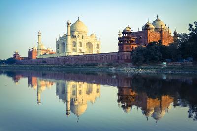 The Taj Mahal Reflected in the Yamuna River
