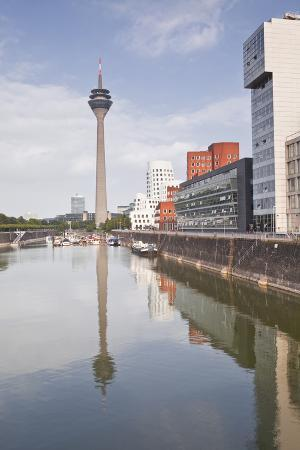 The Old Docks in the City of Dusseldorf, North Rhine-Westphalia, Germany, Europe